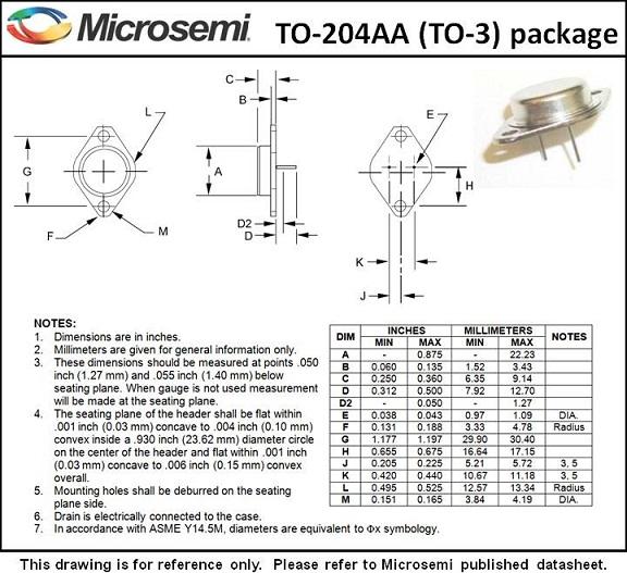 Package Outlines Microsemi