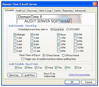 Timing Audit Server