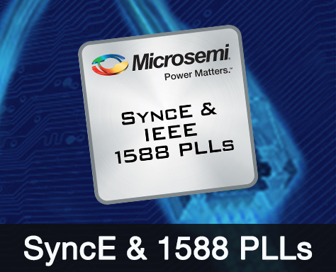 Synchronous Ethernet SyncE PLLs & IEEE 1588 PLLs | Microsemi
