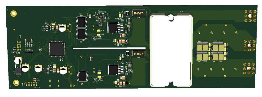 SiC SP3 Module Driver Reference Design Bottom | Microsemi