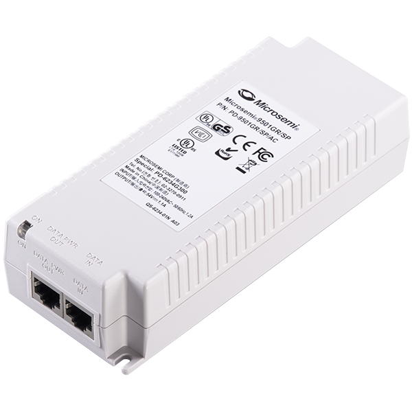 1port Midspan / Injector, 60W, AC Input, 10/100/1000BaseT, Lightning Protection