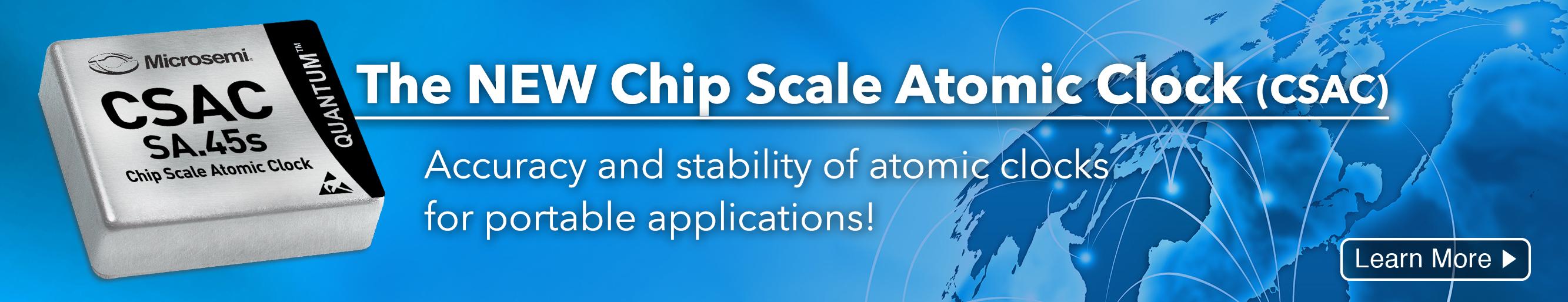 Quantum™ SA.45s Chip Scale Atomic Clock (CSAC)