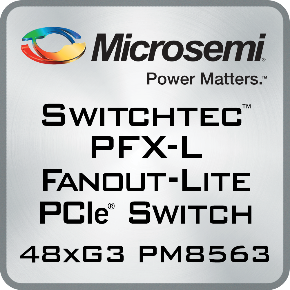PFXL-PM8563, PFX-L Fanout PCIe Switches, lowest power PCIe switch, PCIe switching | Microsemi