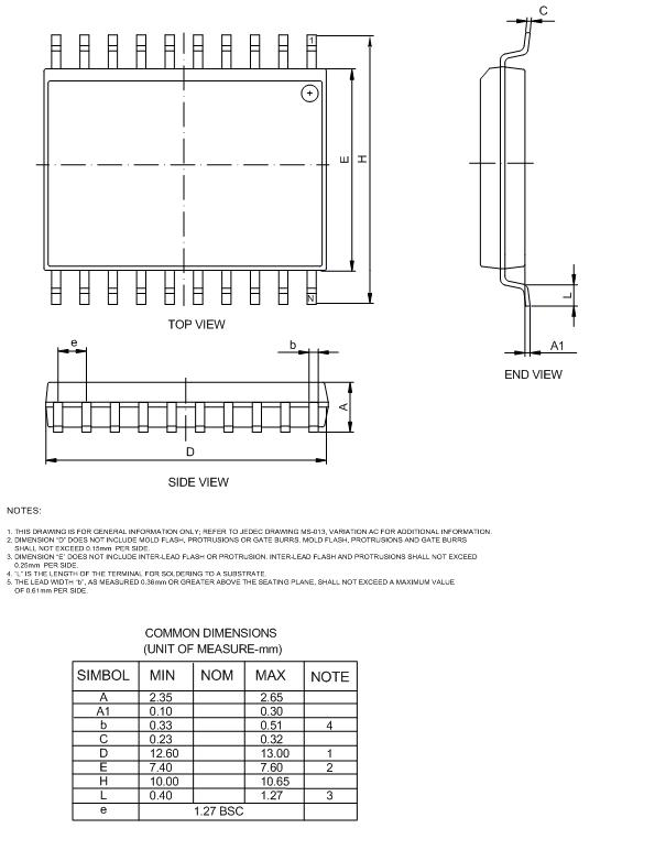 Soic Package Drawing