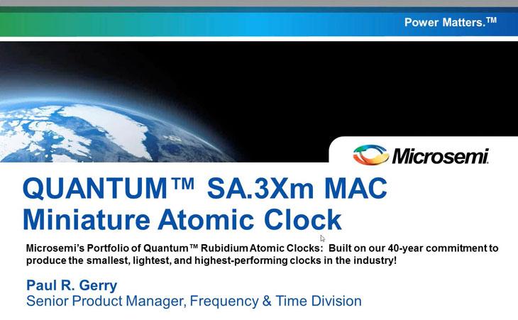 Miniature Atomic Clock (MAC - SA 3Xm) | Microsemi